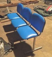 Скамьи офисные ИЗО (сиденье,  стул) 3х местные новые для залов ожидани